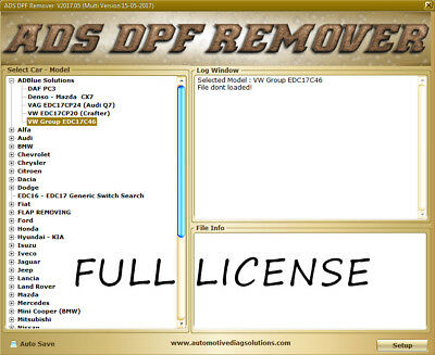 Ads Dpf Egr Lambda Remover Full License Edc15 Edc16 Edc17