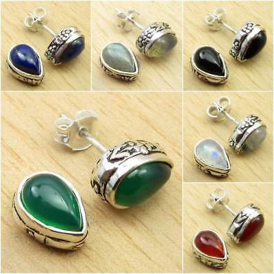 925 Silver Plated LABRADORITE & Other Gems FASHION Earrings Pick Your Choice
