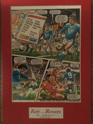 roy of the rovers 1991  original artwork with that weeks comic