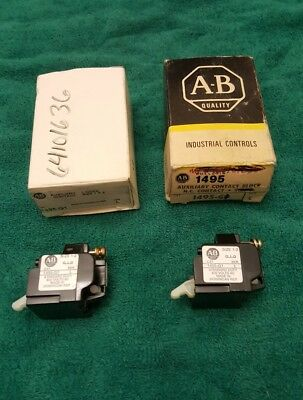 2-NEW ALLEN BRADLEY Auxiliary Contact Blocks 1495-G1