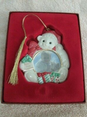 Lenox photo frame ornament Baby1st first Christmas