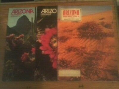 Vintage Lot of 3 1974 Arizona Highways Magazines, Collector Issues