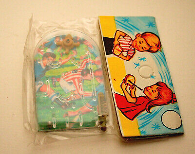 Dime Store Toy Pinball Bagatelle 1960-70s NOS Hong Kong MIP Soccer Themed