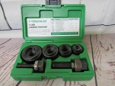 Greenlee 735BB Ball Bearing Knockout Punch Set -Used!!!