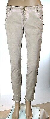 Jeans Donna Pantaloni MET Made in Italy C898 Affusolato Beige Cipria Tg 27