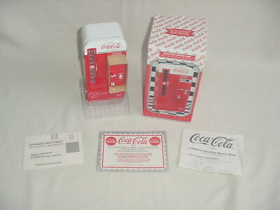 Coca Cola Bottle Vending Machine Musical Bank Mint 1994 NIB