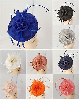 Elegant Fascinator with Headband and Clip Weddings Ladies Day Race Royal Ascot