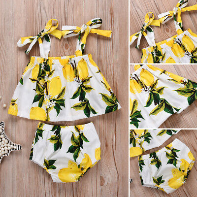 Newborn Baby Girls Floral Top Shorts Briefs Pants Outfit Clothes Summer US Stock