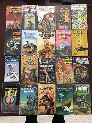 Collection Of 20 Fantasy Novels, Moorcock, Lovecraft
