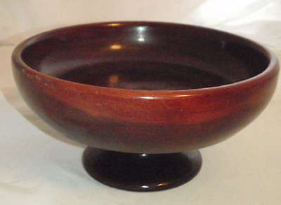 California Redwood Footed Bowl Candy Dish Vintage 1970's