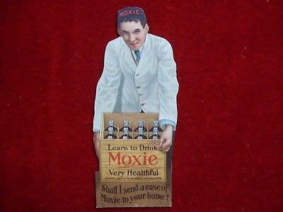 Moxie Soda Early Die Cut Advertisement