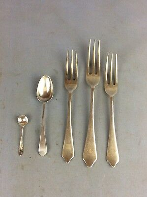 Job Lot Solid Silver Hallmarked (Lock Sicker; Forks And Spoons Ship Worldwide