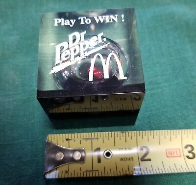 Rare Mcdonalds Dr Pepper play to win dice game