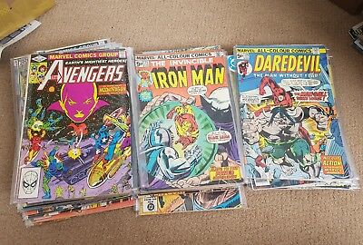 Bronze age collection. 53 issues. core titles. Avengers. Iron man. Daredevil