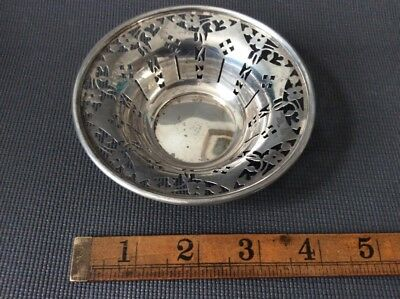 Antique Sterling Silver Nut or Bon Bon Dish / Basket / 48g