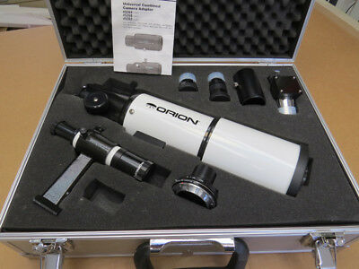 Orion Short tube 80 refractor telescope with Olympus  OM MF-1 camera adapter