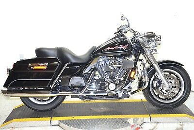 2008 Harley-Davidson Touring  2008 Vivid Black Harley Davidson Road King FLHR Drag Bars Many Extras & Upgrades