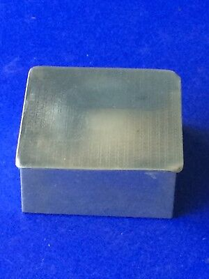 Vintage Silver Plate Cigarette Box PFJ  Wooden Interior Square Shape