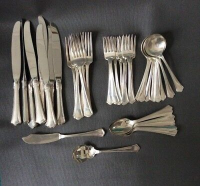 42pcs Sterling Silver WALLACE Flatware Cutlery Set / No Monogram / Set for 8
