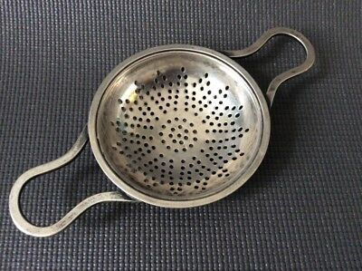 Antique Sterling Silver Tea Strainer / Tea Caddy Accessory
