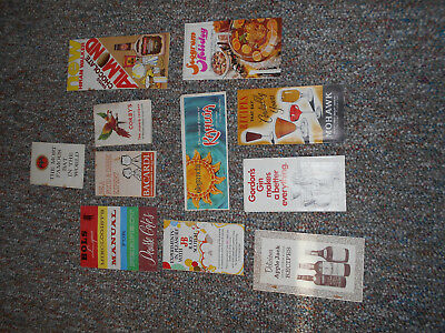 VINTAGE COCKTAIL LIQUOR RECIPE BOOKLETS Ads  MIXED DRINK GUIDE 40+ HUGE LOT