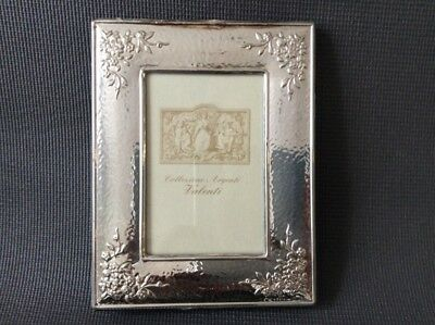 Sterling Silver Photo Frame / Hammered Finish / 925