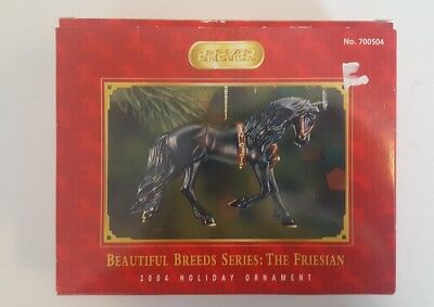 Breyer Holiday Ornament 2004 The Friesan Beautiful Breeds 2nd In Series 700504