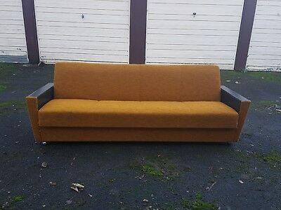 Vintage Retro Mid Century Sofa Day Bed l Atomic 1950s  60sDanish Studio Couch