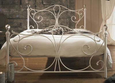 White French Metal Bed Frame Victorian Style Antique King Size Bed Vintage Room
