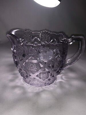Antique Vintage Alexandrite (Sun purple) pressed glass creamer 80L212