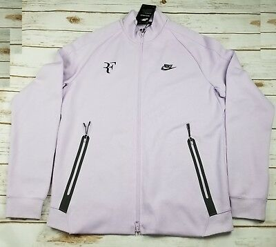 a4c10c1c NIKE Court Roger Federer Tennis Tech Fleece Jacket Violet Mist 856471 514  -M NEW
