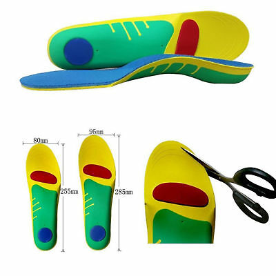 6387ada0a7 Orthotic Insoles Pad for Arch Support Plantar Fasciitis Flat Feet Heel Spurs  S/L