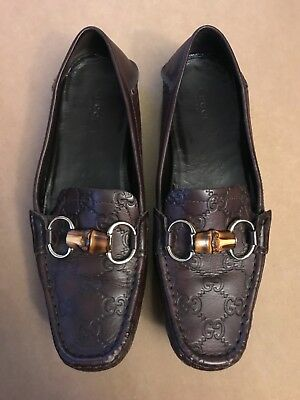 1cb792e9993 GUCCI ITALY LOAFER 110 1477 Slip On Shoe Horsebit Black Silver ...
