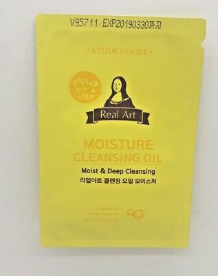 Korea Cosmetic Etude House Real Art Moisture Cleansing Oil Perfect Mild Remover