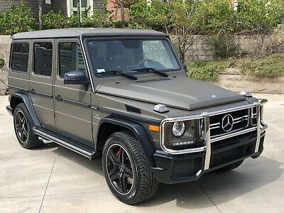 2017 Mercedes-Benz G-Class G63 AMG MSRP $160,475.00 DESIGNO MOJAVE PACKAGE  OLIVE MAGNO MATTE. ONLY 2551 MILES