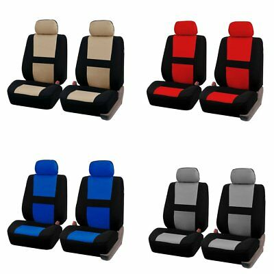 4pcs Universal Car Front Seat Covers Full Set Head Rest 4 colors For Auto Truck