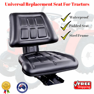 NEW Universal Tractor Seat PU Leather Seating Chair Adjustable Backrest Truck