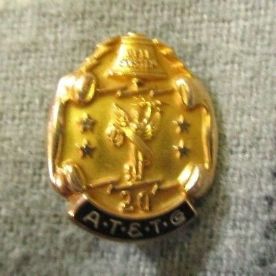 AT & T Co. Pin 10K Gold 20 Year Pin  A.T.&T. Co.