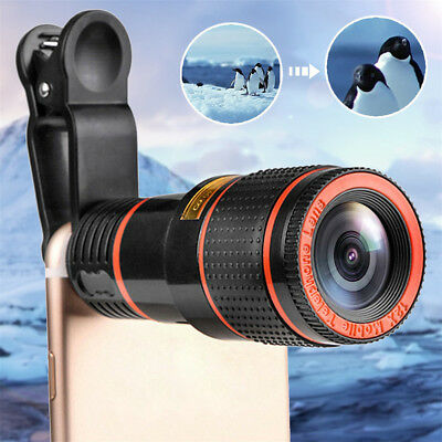 HD 12X Universal Optical Zoom Telescope Camera Lens Clip for iPhone Samsung LG
