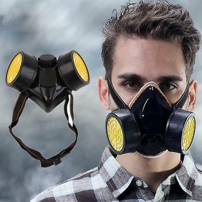 Protective Dual Filter Respiratory Gas Masks Safety Emergency Survival Tool Home