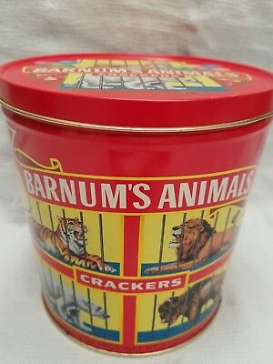 """Vintage Collectible """"barnum's Animals Crackers"""" Tin W/handle!! - From 1991 - New"""