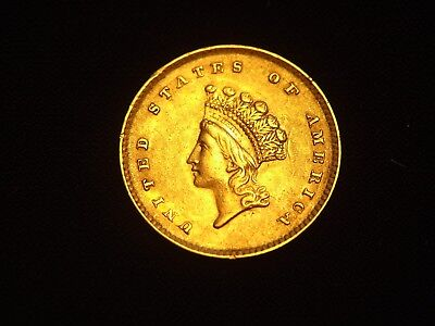 1854 $1 GOLD TYPE ll  xf