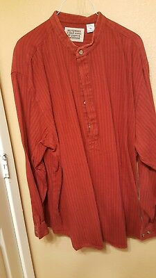 Frontier Classic Old West Clothing, Men's Shirt, Used, Dark Red, XL