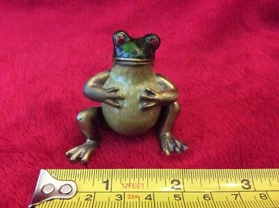 Frog Enameled Magnetic Hinged Trinket Jewelry Box
