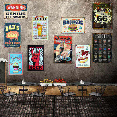 Retro Metal Tin Sign Poster Plaque Bar Pub Club Wall Home Decor
