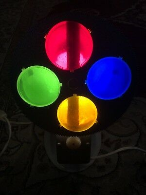vintage mid century motorized rotating color wheel for aluminum christmas tree - Rotating Color Wheel For Christmas Tree