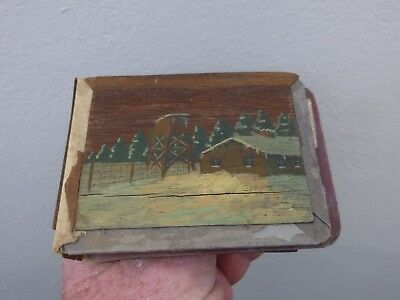 A WW2 Prisoner of War Made Photograph Album Stalag Painting  c1940s