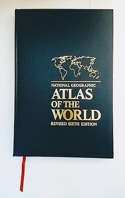 Large National Geographic Atlas of the World Revised Sixth Edition.