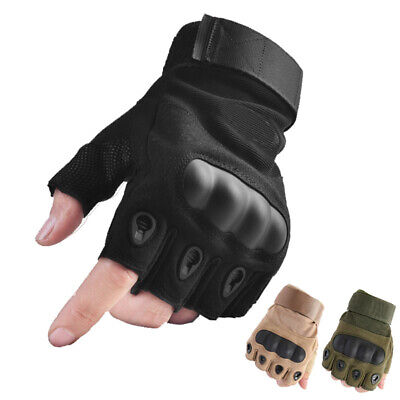 Tactical Half Finger Gloves Mens Athletic Military Army Climbing Work Fingerless