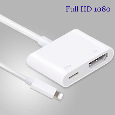 Digital Lightning to HDMI Port AV 8 Pin Adapter For iPhone X 7 6 iPad Air Mini 4